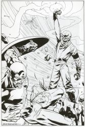 Captain America vs. The Red Skull's Cosmic Cube by DrewGeraci