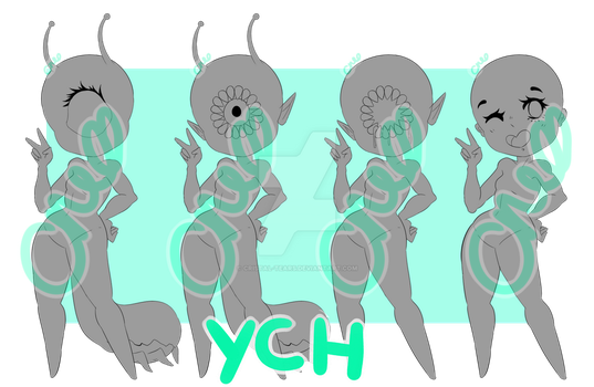 Peace out [Slugoii/Tootheye/Humanoid YCH] by Cristal-Tears