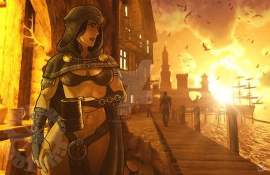 KenpudioCustom: Lady Immolatasia Tavern Sunset by Kenpudiosaki