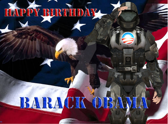 Happy Birthday Barack Obama by KiyoshiNobuyuki