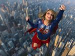 Supergirl over Chicago by DahriAlGhul