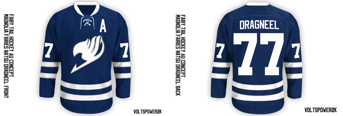 Fairy Tail- Hockey AU Jersey Concept by VoltsPower2K