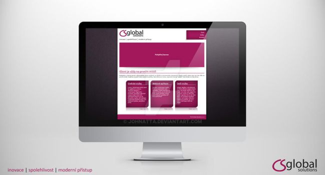 CS Global Solutions - Web design by johnatta