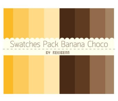 Swatches pack banana choco by TheSeekerReki