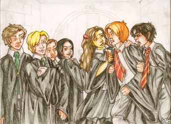 Gryffindor VS Slytherin by HermioneGrangerClub