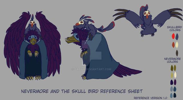 Nevermore and the Skullbird reference 1.0 by catgir