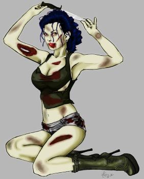 Zombie Tankgirl by hOleYes