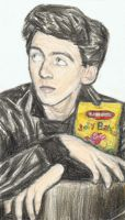 Young George Harrison posing with Jelly Babies by gagambo