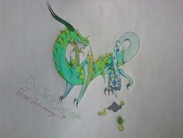 Jacksepticeye dragon by Darumemay