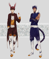 march hare and cheshire cat by kyunyo