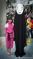 Spirited Away - No Face and Chihiro by reenimochi