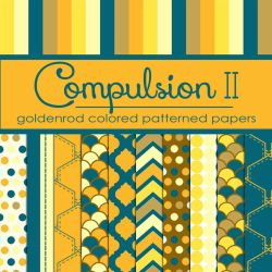 Compulsion II: Goldenrod Colored Pattern Papers by TeacherYanie