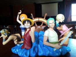One Piece Bookends by l3xxybaby