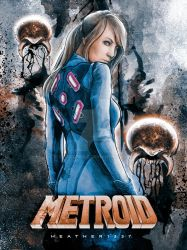 Heather1337 Metroid Samus Cosplay Painting by studiomuku