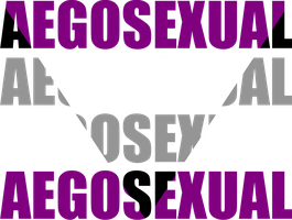 Aegosexual Typography by Pride-Flags