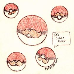 Mustached Pokeballs by stefania-zee