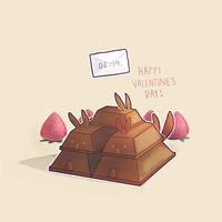 Choco bunny Valentines by spaded-square