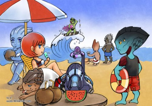 Shepard's beach holiday by uuyly