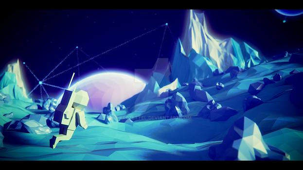 Low Poly Space - made in Blender by HerrZettel