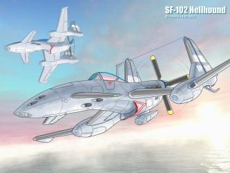 SF-102 Hellhound at sunrise by TheXHS