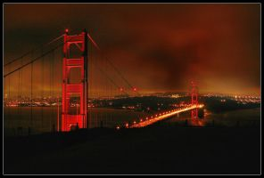 Golden Gate Span - Night Shot by the-shutterbug