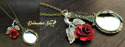 Beauty and the Beast Inspired Necklace by enchantedsea