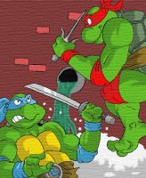 Leo Vs. Raph by UBob