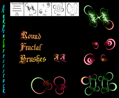 Round Fractal Brushes 02 by PinkPanthress-Stock