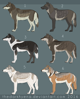 Wolfdog adoptables-CLOSED- by Dolphin-Adopt