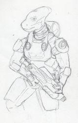 Ascarian Soldier by HWPD