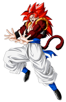 Gogeta Super Saiyan 4 by ChronoFz