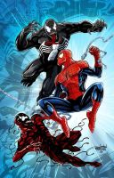 Spidey, Vernom and Carnage Colored by wardogs101
