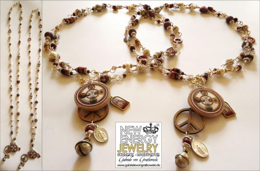 BELOVED MOTHER EARTH energy necklace by NEWENERGYJEWELRY