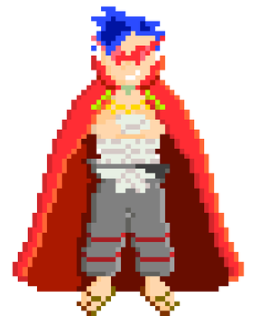 PixelArt - Kamina by GreenyGuy