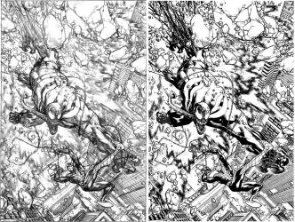 Venom Spaceknight Cover 11 Pencil and Ink by Spacefriend-KRUNK