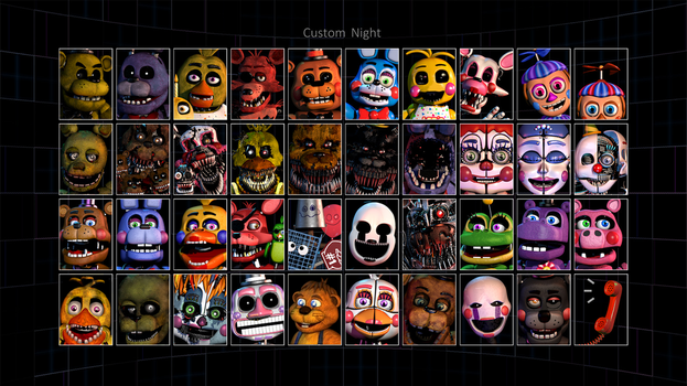 Edits|FNAF6|Custom Night by YinyangGio1987