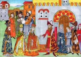Byzantine greek nobility engagement 15th century by strix-nebuloso