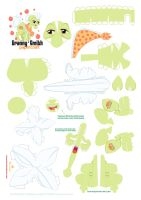Granny Smith papercraft pattern by Kna