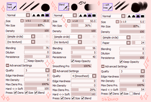Paint Tool SAI Brushes   Outdated by shiowo
