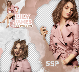 Png Pack 3840 - Lily James by southsidepngs