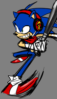 Completely Innocent Drawing Of Boom Sonic by knockabiller