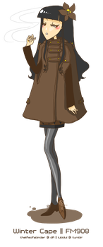 FM908 - Winter Cape by thelifeofabinder