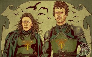 YARA and THEON GREYJOY by aquiles-soir
