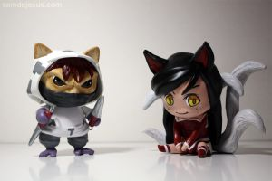 arctic ops kennen and chibi ahri by samdejesus