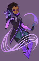 Sombra Art Trade by Thoughts-and-Bubbles