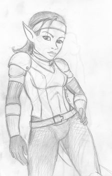 Talwynn Sketch by korblborp
