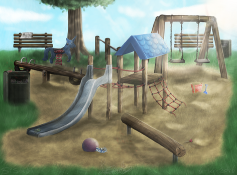 To the playground by AnArtisticArtist