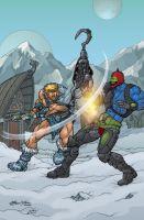 Ice Armour He-Man and Trap-Jaw by Jukkart