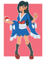 Trainer Ashley: Furisode Girl by SoraWolf7