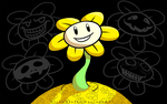 Flowey the Flower by VickyViolet